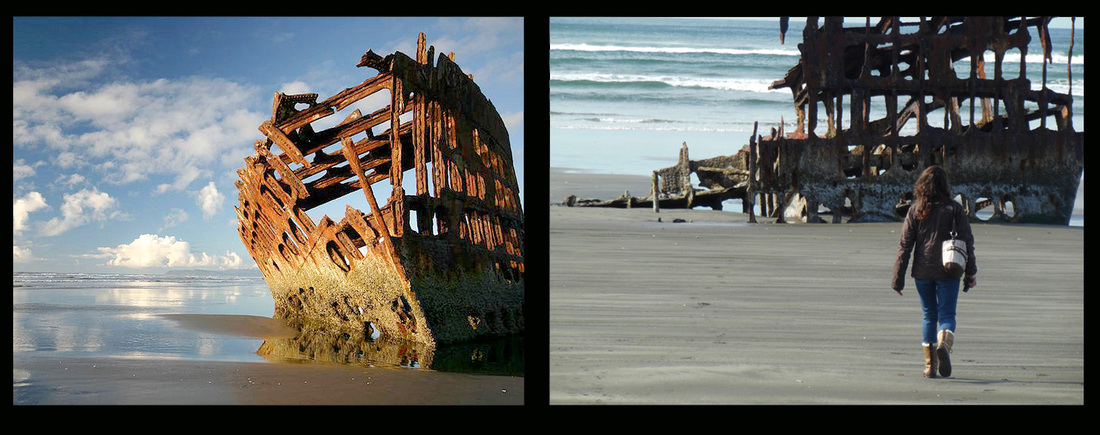 The Peter Iredale Shipwreck at Fort Stevens Oregon Coast Picture